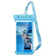 "Seaflash Waterproof TPU Case for Smartphones up to 6.5"", Blue - Mobile Phone Case"