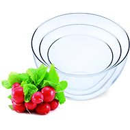 SIMAX Set of Glass Bowls 3pcs, Volume of 0.75l, 1.5l and 2.5l - Kneading Bowl