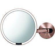Simplehuman Sensor with LED Lighting, Rose Gold Stainless Steel - Makeup Mirror