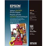 EPSON Value Glossy Photo Paper 10x15cm 100 sheets - Photo Paper