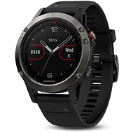 Garmin Fenix 5 Grey, Black band - Smartwatch