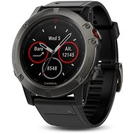 Garmin Fenix 5X - Sapphire, Gray, Black band - Smartwatch