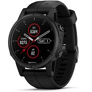 Garmin Fenix 5S Plus Sapphire Black Optic Black Band - Smartwatch
