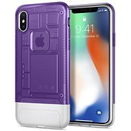 Spigen Classic C1 Grape iPhone X - Mobile Case