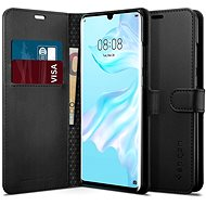 Spigen Wallet with Saffiano Black Huawei P30 Pro - Mobile Case