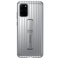 Samsung Hardened Protective Back Cover with Stand for Galaxy S20+, Silver - Mobile Case