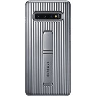 Samsung Galaxy S10+ Protective Standing Cover Silver - Mobile Case