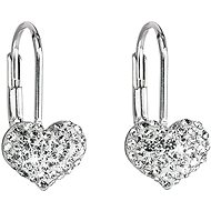 Crystal Earrings Decorated with Swarovski Crystals 31125.1 (925/1000; 1.4g) - Earrings