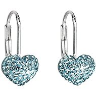 Earrings Aqua Decorated Swarovski Crystals 31125.3 (925/1000; 1.4g) - Earrings