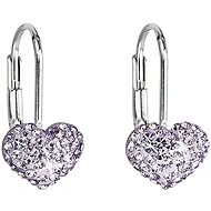 Earrings Violet Decorated Swarovski crystals 31125.3 (925/1000, 1.4 g) - Earrings