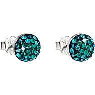 Swarovski Elements Magic Green 31136.3 (925/1000, 1.5 g) - Earrings