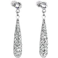 Crystal Drop Earrings with Swarovski crystals 31163.1 (925/1000, 1.3g) - Earrings