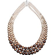 Brown pearl necklace 32009.3 (925/1000, 113.2g) - Necklace