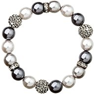 Grey Pearl Bracelet Decorated with Swarovski Crystals 33060.3 - Bracelet
