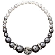 Grey Pearl Bracelet Decorated with Swarovski Crystals 33062.3 - Bracelet