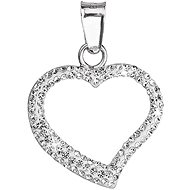 Crystal Heart Charm Decorated With Swarovski Crystals 34093.1 (925/1000; 0.2g) - Charm