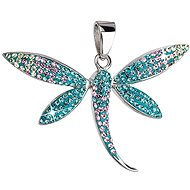 Magic Indicolite Charm Decorated with Swarovski Crystals 34164.3 (925/1000, 2.8g) - Charm