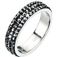 Ring decorated with Swarovski Hematite 35001.5 crystals - Ring