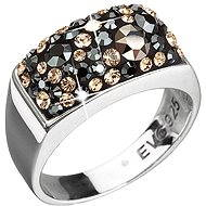 Decorated with Swarovski Colorado Crystals (925/1000; 4.6g) size 54 - Ring