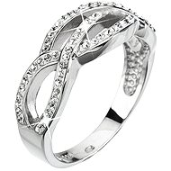 Crystal Ring Decorated with Swarovski Crystals 35039.1 (925/1000; 3.9g) Size 52 - Ring
