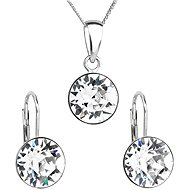 Crystal Set Decorated Swarovski Crystals 39140.1 (925/1000; 2.6g) - Jewellery Gift Set