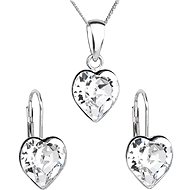 Crystal Set Decorated Swarovski Crystals 39141.1 (925/1000; 2.6g) - Jewellery Gift Set