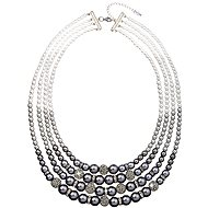 Grey pearl necklace 32010.3 - Necklace