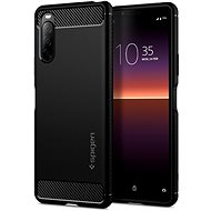 Spigen Rugged Armor, Black, Sony Xperia 10 II - Mobile Case