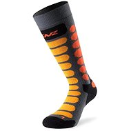 Lenz Skiing Junior, 70-gray / orange - knee socks