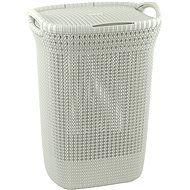 Curver Laundry Basket Knit 57L Cream - Laundry Basket
