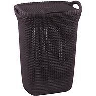 Curver Knit Laundry Knit 57L Purple - Laundry Basket