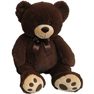 Plush teddy bear 60cm, dark brown - Plush Toy