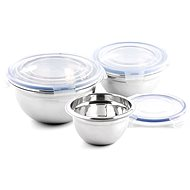 Weis Stainless Steel Bowls with Lids 3pcs - Kneading Bowl