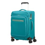 American Tourister Airbeat Spinner 55 EXP Sky Blue - Suitcase with TSA-Approved Lock