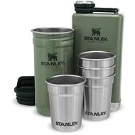 STANLEY ADVENTURE SERIES, Gift Set of Thermos Flask, Hip Flask and 4 Shot Glasses, Green - Thermos