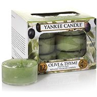 YANKEE CANDLE Tea Candles 12 x 9.8 g Olive & Thyme - Candle