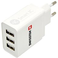 AC Adapter Swissten Mains Power Adapter SMART IC 3 x USB 3.1A - Nabíječka do sítě