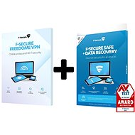 F-Secure SAFE DR + FREEDOME for 3 devices for 1 year + Data Recovery for 1 device for 1 year (electr - Electronic licenses