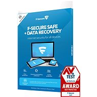 F-Secure SAFE DR - 3 devices for 1 year + Data Recovery - 1 device for 1 year (electronic licence) - Antivirus