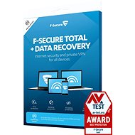 F-Secure TOTAL DR for 3 devices per year + Data Recovery for 1 device for 1 year (Electronic Lice - Electronic licenses