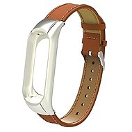 SXT Mi Band 3 Leatherette Bracelet Brown - Watch band