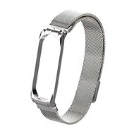 Tactical Loop Magnetic Metal Strap for Xiaomi Mi Band 5/6 Silver - Watch band