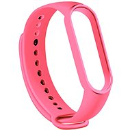 Tactical Silicone Strap for Xiaomi Mi Band 5/6 Pink - Watch band