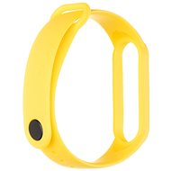 Tactical Silicone Strap for Xiaomi Mi Band 5/6 Yellow - Watch band