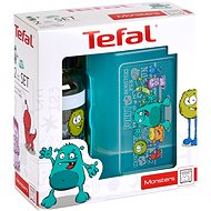 Tefal Kids Lunchbox and Drinks Bottle Monster Design, Turquoise - Sada