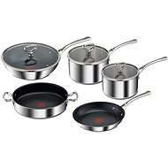 Tefal Set of Pots and Pans 8pcs RESERVE Collection E475S544 Tri-Ply - Sada nádobí