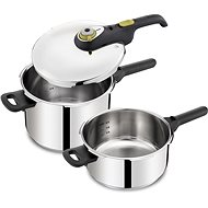 Tefal Pressure pot Secure5 Neo set 4 + 6L (with steam basket) - Pressure Cooker