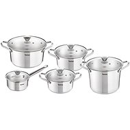Tefal SIMPLEO Set of Stainless Steel Pots 10pcs - Pot Set