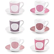 Espresso Cup with Saucer myCOFFEE, 6 pcs, Sugar - Cup & Saucer Set