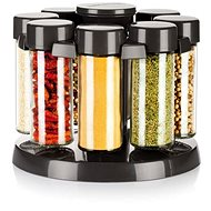 TESCOMA Spices in Swivel Stand SEASON 8 pcs, Anthracite - Spice Container Set